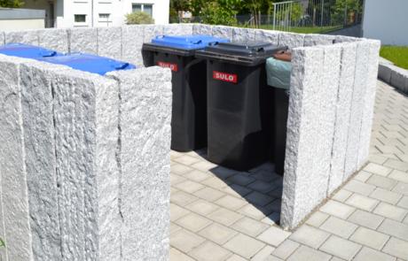 GaLaBau-Lorch | Referenzen - Mülltonneneinfassung 1